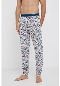 United Colors of Benetton - Spodnie piżamowe x Peanuts. Kolor: szary. Materiał: dzianina, materiał. Długość: długie