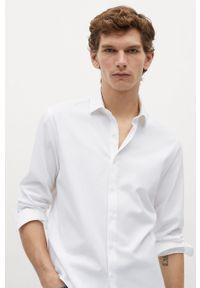 Biała koszula Mango Man z długim rękawem, na co dzień, z klasycznym kołnierzykiem, długa