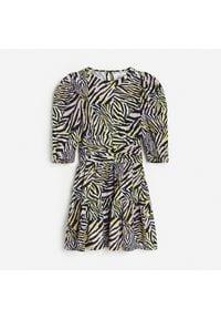 Reserved - Sukienka ze zwierzęcym printem - Wielobarwny. Wzór: nadruk, motyw zwierzęcy