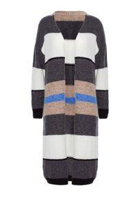 Sweter z długim rękawem, w kolorowe wzory, długi