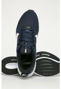 Niebieskie buty sportowe Nike z cholewką, z okrągłym noskiem, na sznurówki