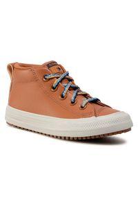 Converse Sneakersy Ctas Street Boot Md 668490C Brązowy. Kolor: brązowy. Styl: street