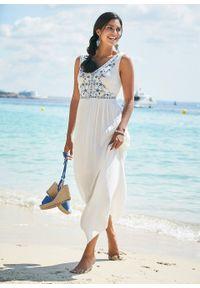 Biała sukienka bonprix na lato, maxi