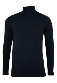 Niebieski sweter Brave Soul klasyczny, z golfem