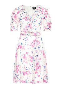 DKNY Sukienka letnia DD1A7185 Kolorowy Regular Fit. Wzór: kolorowy. Sezon: lato
