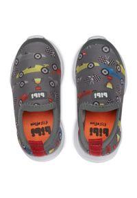 Bibi - Sneakersy BIBI - Fly Baby 1136051 Print/Grey. Kolor: szary. Materiał: materiał. Wzór: nadruk