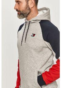 Szara bluza nierozpinana Tommy Sport sportowa, z aplikacjami