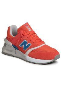Pomarańczowe buty sportowe New Balance z cholewką, na co dzień