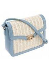 Niebieska torebka ROVICKY skórzana