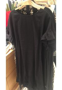 Czarna sukienka Oui z falbankami