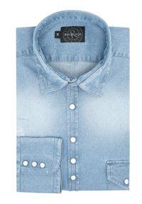 Rage Age Koszula Hertz 1 Niebieski Regular Fit. Kolor: niebieski