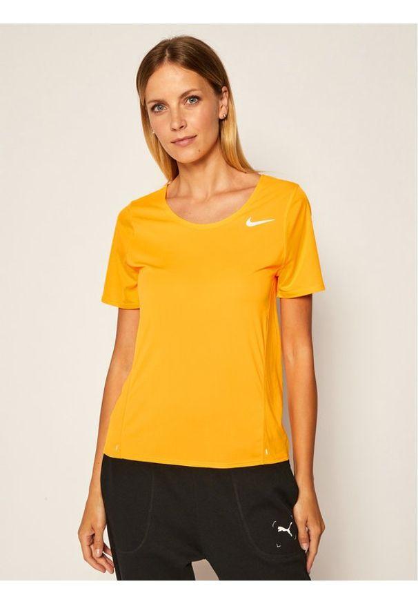 Nike Koszulka techniczna City Sleek CJ9444 Pomarańczowy Standard Fit. Kolor: pomarańczowy