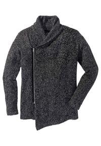Szary sweter bonprix melanż, długi