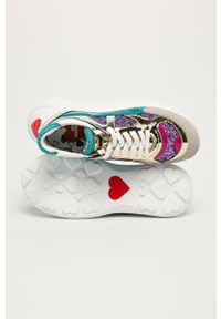 Wielokolorowe buty sportowe Love Moschino na obcasie, na średnim obcasie