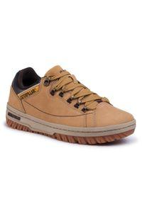 CATerpillar - Sneakersy CATERPILLAR - Apa P711588 Honey Reset. Okazja: na co dzień. Kolor: brązowy. Materiał: skóra, nubuk, zamsz. Styl: sportowy, casual