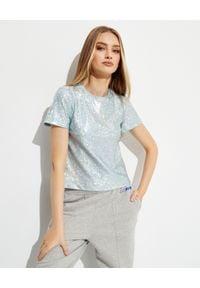 SAKS POTTS - T-shirt z metalicznym połyskiem Sai. Kolor: srebrny. Materiał: tkanina