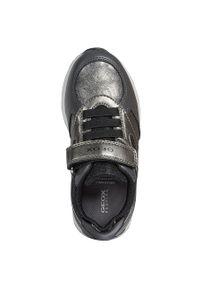 Szare buty sportowe Geox z cholewką, na rzepy