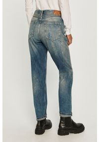 Niebieskie jeansy Pepe Jeans na co dzień, casualowe, z podwyższonym stanem