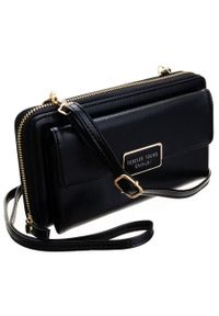 4U CAVALDI - Listonoszka portfel 2w1 Cavaldi czarny SF1817-ML-8421 BLACK. Kolor: czarny. Materiał: skórzane. Styl: elegancki