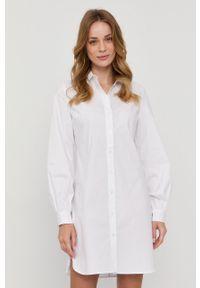 Samsoe & Samsoe - Samsoe Samsoe - Sukienka. Okazja: na co dzień. Kolor: biały. Materiał: tkanina. Długość rękawa: długi rękaw. Wzór: gładki. Typ sukienki: proste. Styl: casual #1