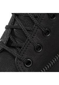 Czarne buty zimowe Gino Rossi klasyczne, z cholewką