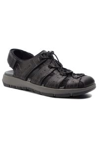 Czarne sandały Clarks na lato