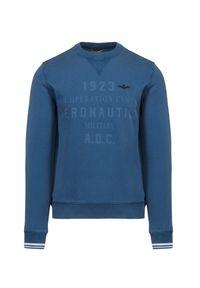 Aeronautica Militare - Bluza AERONAUTICA MILITARE. Materiał: bawełna, materiał, prążkowany. Wzór: prążki, nadruk