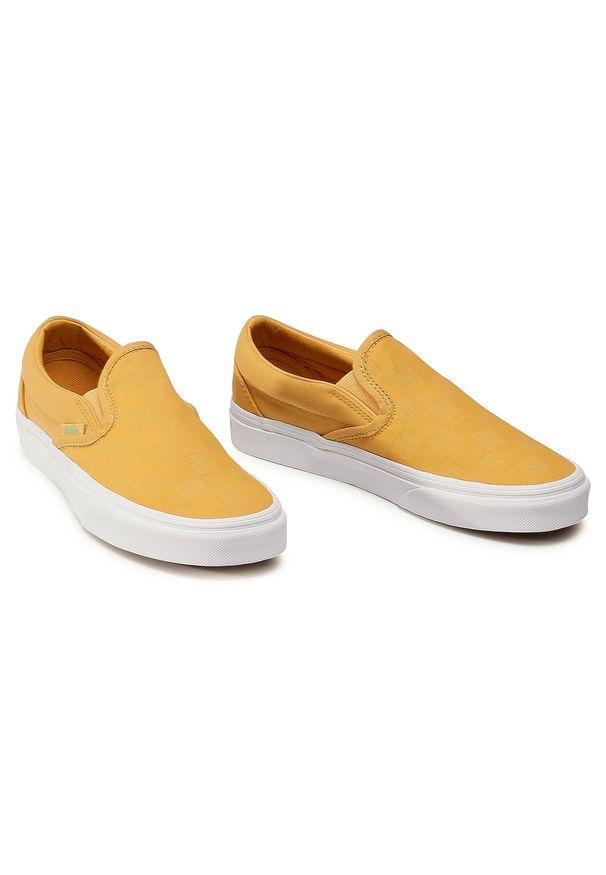 Żółte półbuty Vans z cholewką, na spacer