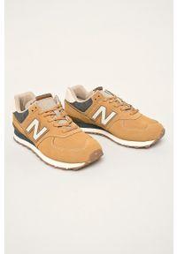 Żółte sneakersy New Balance New Balance 574, z cholewką