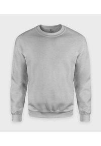 MegaKoszulki - Bluza klasyczna (bez nadruku, gładka) - szara (melanż). Kolor: szary. Wzór: gładki, melanż. Styl: klasyczny