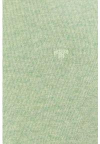 Tom Tailor - Sweter. Okazja: na co dzień. Kolor: zielony. Materiał: dzianina. Długość rękawa: długi rękaw. Długość: długie. Styl: casual