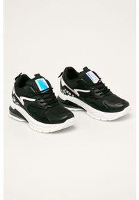 Czarne buty sportowe ANSWEAR z okrągłym noskiem, z cholewką, na sznurówki