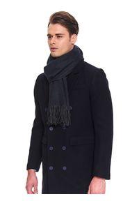 Szary szalik TOP SECRET na co dzień, elegancki, w kolorowe wzory, na zimę