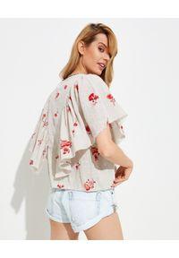 ONETEASPOON - Bluzka w kwiaty Romantique. Kolor: beżowy. Materiał: tkanina, wiskoza, koronka. Wzór: kwiaty