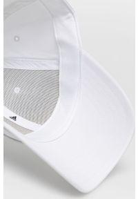Biała czapka z daszkiem adidas Performance gładkie
