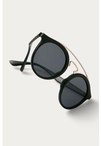 Czarne okulary przeciwsłoneczne Answear Lab gładkie, okrągłe