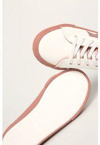 Białe buty sportowe Big-Star z okrągłym noskiem, z cholewką, na sznurówki