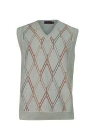 Sweter Kings na co dzień, z dekoltem w serek, elegancki, na zimę