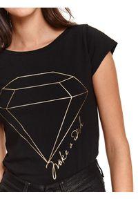 Czarny t-shirt TOP SECRET z nadrukiem #6