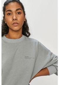 Szara bluza Dr. Denim gładkie, długa, z długim rękawem, bez kaptura