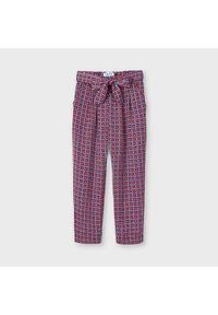Mayoral Spodnie materiałowe 3558 Kolorowy Regular Fit. Materiał: materiał. Wzór: kolorowy
