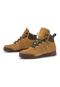 Buty zimowe Adidas na zimę, z cholewką przed kolano