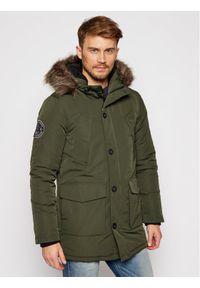 Zielona kurtka zimowa Superdry