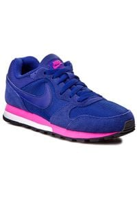 Niebieskie półbuty Nike na sznurówki, z cholewką