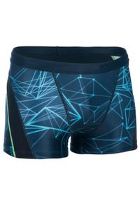 NABAIJI - Bokserki Pływackie Stab Męskie. Kolor: zielony, niebieski, wielokolorowy. Materiał: materiał, elastan