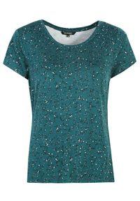 TOP SECRET - T-shirt damski printowany. Kolor: zielony. Materiał: jeans, materiał. Długość rękawa: krótki rękaw. Długość: krótkie. Wzór: nadruk. Sezon: wiosna. Styl: sportowy
