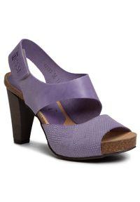 Fioletowe sandały Nessi casualowe, na co dzień