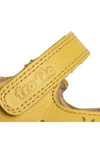 Żółte półbuty Froddo na rzepy, z cholewką