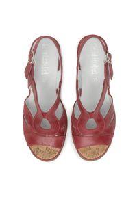 Czerwone sandały Comfortabel