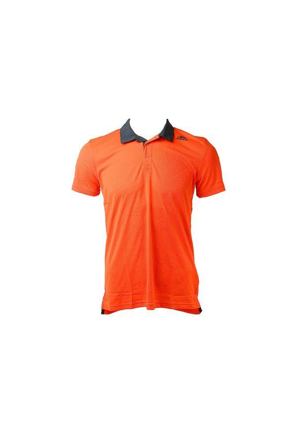 Pomarańczowa koszulka sportowa Adidas polo